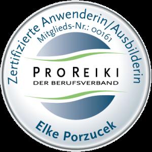 Elke Porzucek, Zertifizierte Ausbilderin ProReiki